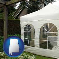 alabama a garden party tent