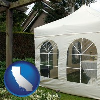 california a garden party tent
