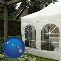 hawaii a garden party tent