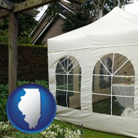 illinois a garden party tent