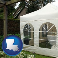 louisiana a garden party tent