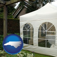 north-carolina a garden party tent