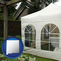 new-mexico a garden party tent