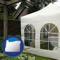 oregon a garden party tent