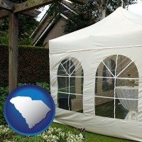 south-carolina a garden party tent