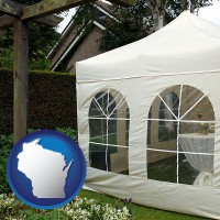 wisconsin a garden party tent
