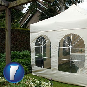 a garden party tent - with Vermont icon